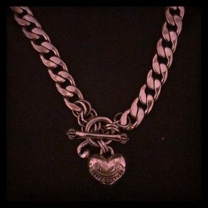 Juicy Couture- Silver Charm Necklace